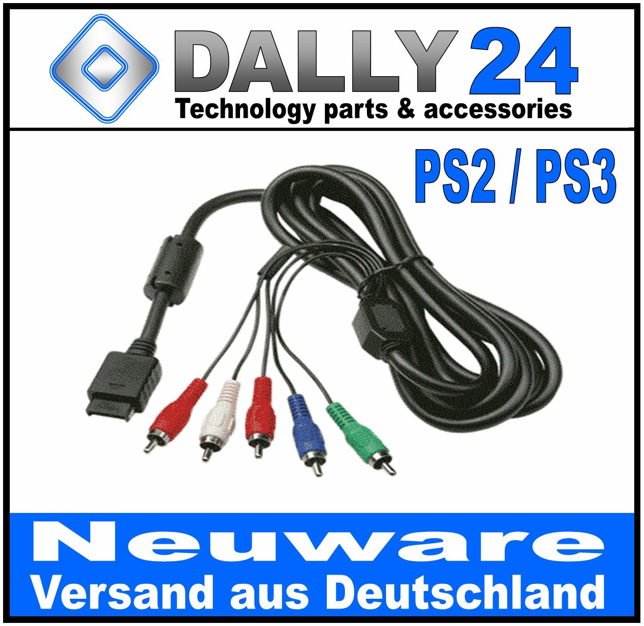 KOMPONENTENKABEL-YUV-HD-Kabel-f-Playstation-PS2-amp-PS3